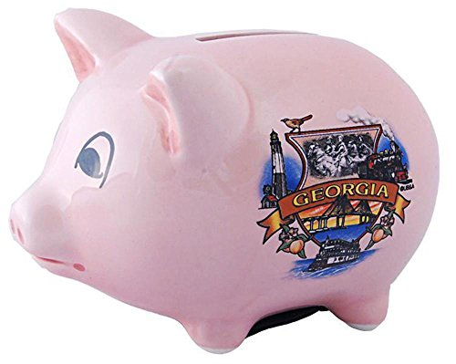 BAGA1 Piggy Bank Pink Georgia (Georgia Piggy Bank)