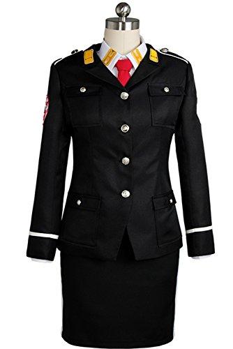 [UU-Style ACCA:13-ku Kansatsu-ka Mozu Kelly/Kerry Outfit Uniform Dress Jacket Shirt Skirt Suit Cosplay] (Settlers Of Catan Costumes)