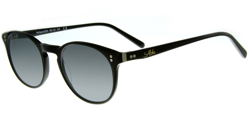 Aloha Eyewear Tek Spex 2002 MADE IN ITALY Unisex RX-Able Progressive Readers with Your Choice of Either Photo-Chromatic or Polarized Lenses (Black +2.00)