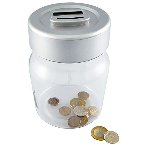 Digital Coin Counter Savings Bank Piggy Counts Money LED tub