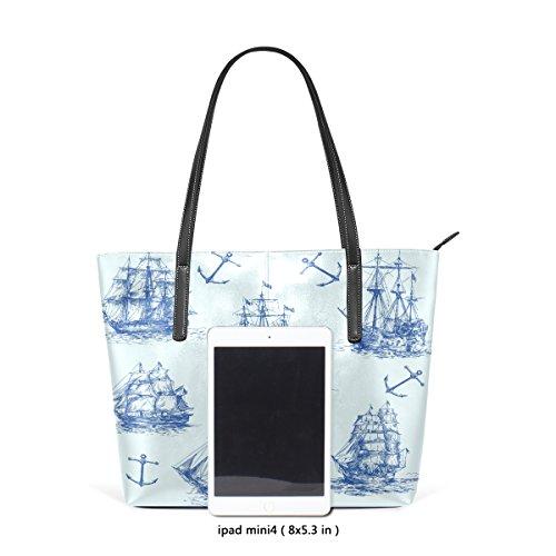 Coosun nautische Set PU Leder Schultertasche Handtasche und Handtaschen Tasche für Frauen