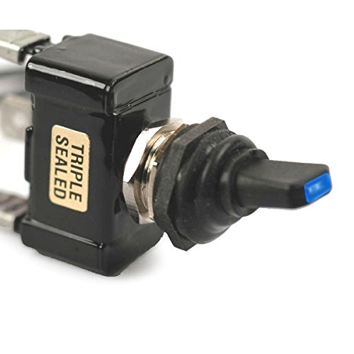 Blue Led Tip Off / On 30 Amp Sand Sealed Toggle Switch With Tab Terminals