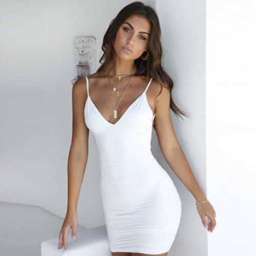 Nu Skinny Slim Strappy Sheath Clubwear Robe Sexy Soire GreatestPAK Femmes Blanc Dos Robe Mini 6qwBUaa