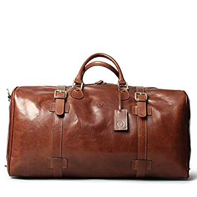 80%OFF Maxwell Scott Handmade Italian Full Grain Leather Travel Duffle Bag  (The FleroEL e2df982e61