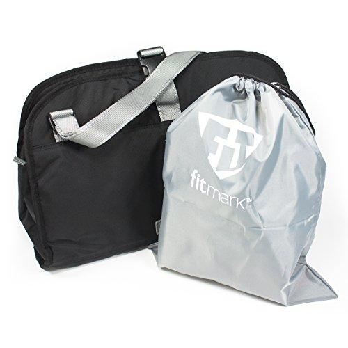 (Fitmark Namaste Gym Messenger Duffle Bag, Black)