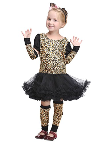 Léopard Acvip Déguisement Enfants Toussaint Les Fille Pour Robe Costumes Cosplay Chat xzr4xSwg