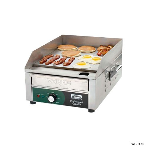 Waring Commercial WGR240X 240-volt Electric Countertop Griddle, 24-inch by Waring