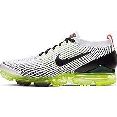 Nike Men's Air Vapormax Flyknit 3, WHITE/BLACK-VOLT, Size 11