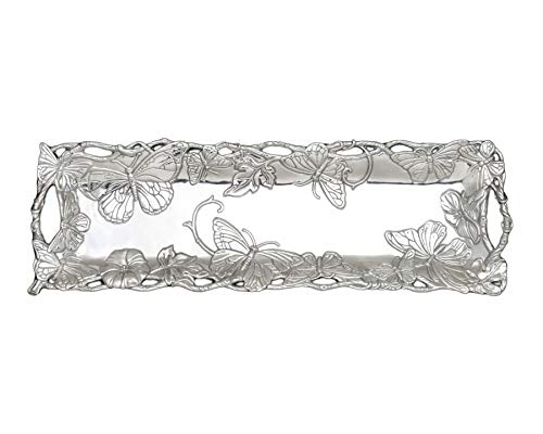Arthur Court Butterfly 18-1/2 by 6-Inch Oblong Tray