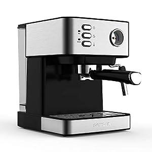KOUDAG Macchina caffè 20Bar Caff蠠Espresso Semiautomatico Domestico Commerciale Schiuma di Latte Regolabile Calibro di Temperatura visibile dell'Acqua