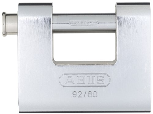 Monoblock Padlock - ABUS 92/80 Monoblock Solid Brass with Steel Jacket Padlock Keyed Alike