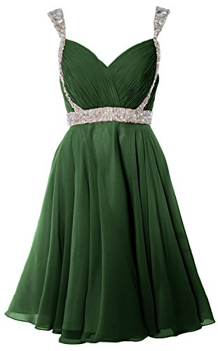 Dunkelgrun Gown Homecoming Party Gorgeous Formal Straps Wedding Dress Short MACloth Prom vSqx4