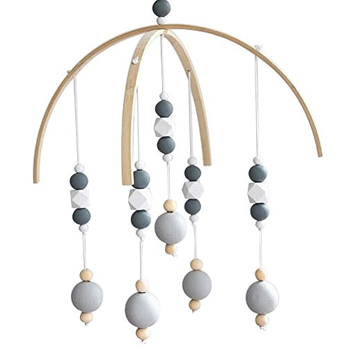 CC Shop Nursery Mobile Crib Bed Bell Baby Bedroom Ceiling Wooden Beads Wind Chime Hanging Ornament (#10)