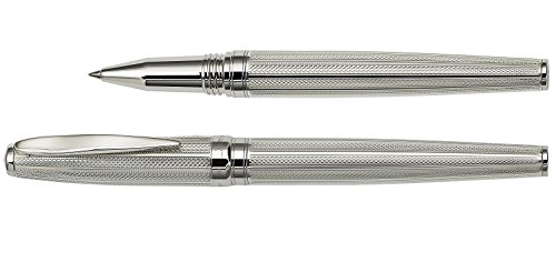 Xezo Solid 925 Sterling Silver Serialized Fine Rollerball Pen with Screw-On Cap (Maestro 925 Sterling Silver R-1) by Xezo (Image #5)