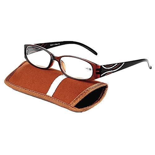 Reading Glasses Spring Hinges Floral Patterned Readers Classy Design Stylish Readers Wayfarer Women Men Incl. Case - Incl Hinges