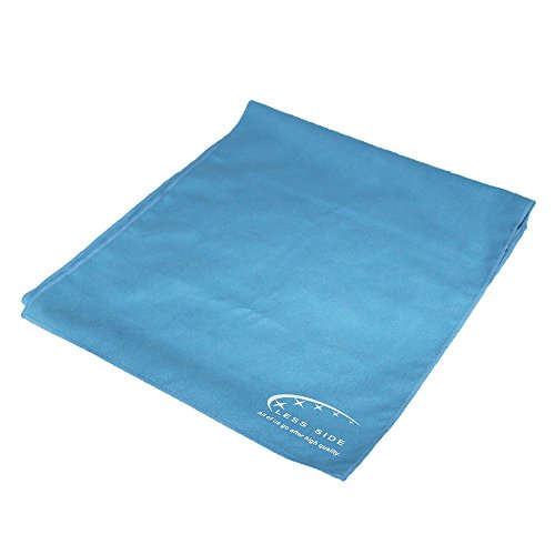 Microfiber Sports & Travel Towel Super Absorbent Quick Dry Lightweight Non Lint 12 by 40 Inch Pink or Blue