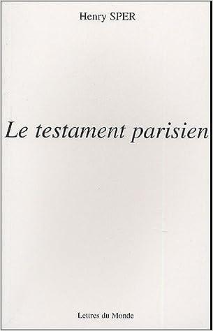 Téléchargement Le testament parisien pdf