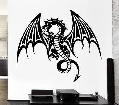 (Wall Decal Dragon Myth Fantasy Monster Cool Decor)