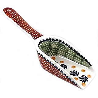 Unique Polish Pottery 1/4 Cup Kitchen Kibble Hard Food Candy Measuring Scoops - DPZG Jungle Fever