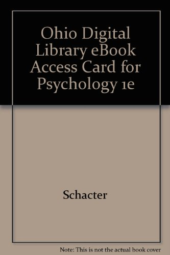 Ohio Digital Library eBook Access Card for Psychology 1e