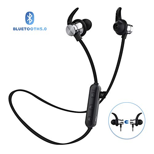 Bluetooth Headphones, ownta Bluetooth 5.0 Wireless Magnetic Earbuds, Snug Fit for Sports with Mic, TF Card Playback(Compatible with iPhone/iPad/Samsung/Android Smartphone) 9