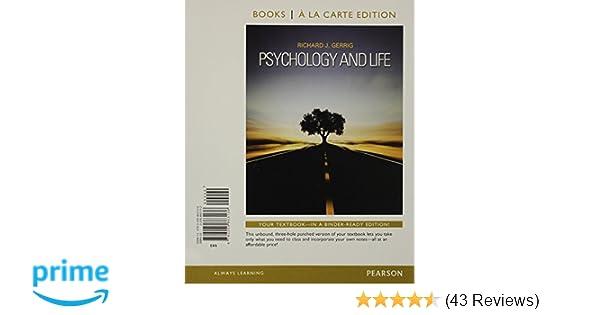 Amazon com: Psychology and Life, Books a la Carte Edition