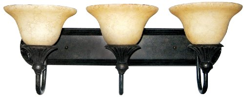 Yosemite Home Decor F023B03SB Verona 24.5-Inch 3-Light Bathroom Vanity, Sienna Bronze - Verona 3 Light Vanity