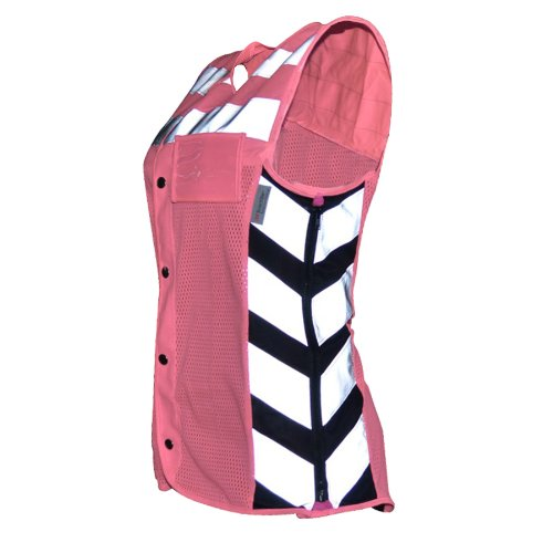 Harley Davidson Reflective Vest - Missing Link Women's Meshed Up Expandable Safety Vest (Pink/Fuchsia, XX-Large)