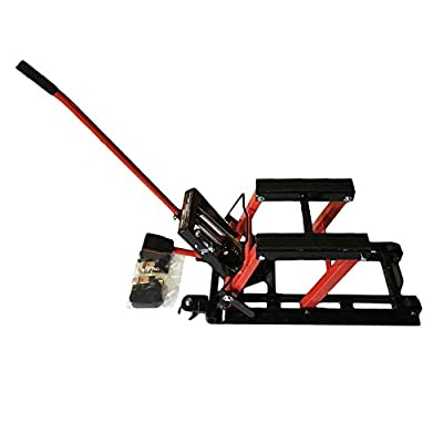 Motorcycle ATV Jack Lift Stand Quad Dirt Street Bike Hoist 1500 Lbs