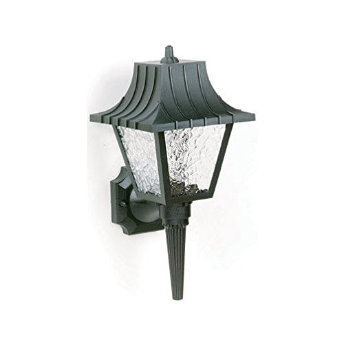 Exterior Hi-Impact Polycarbonate Wall Lantern in Black [Set of 2]