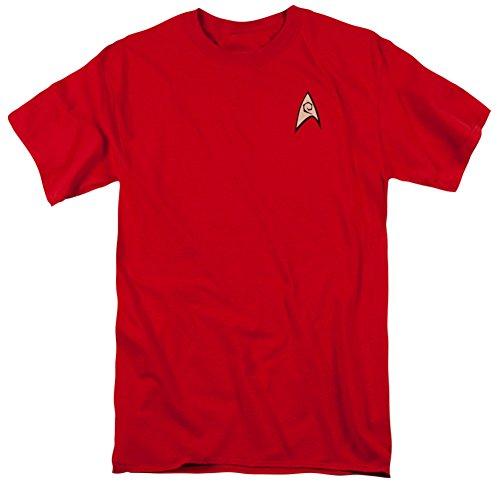 Trevco Men's Star Trek Engineering Uniform T-Shirt, Red, Large (Star Trek Enterprise Uniform)