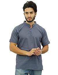 Atasi Casual Half Sleeves Men's Cotton Mandarin Collar Shirt Tunic