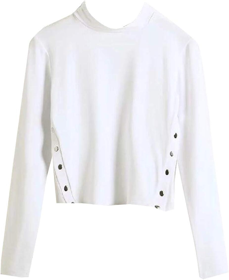 YY-qianqian Womens Long Sleeve Round Neck Loose Printed Casual Tops Sweatshirt