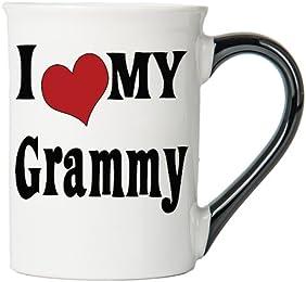 I Love My Grammy Large 18 Oz. Coffee Mug; Grammy Ceramic Coffee Cup; Grammy Gift By Tumbleweed