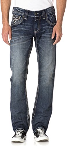 Rock Revival - Mens Elber J200 Straight Jeans, 36, for sale  Delivered anywhere in Canada