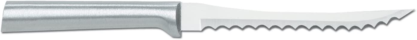 Rada Cutlery Tomato Slicing Knife – Stainless Steel Blade With Aluminum Handle Made in USA, 8-7/8 Inches