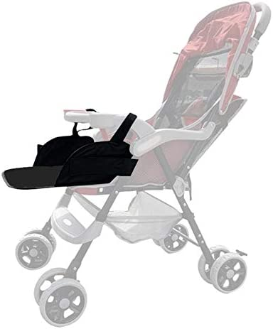 Laideyilan Baby Stroller Universal footrest Extension Foot Pedal Children Umbrella car Accessories seat Extension Foot Drag Easy to Install:Hook Loop Lengthened