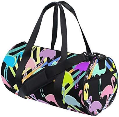 ボストンバッグ カラフルなフラミンゴ ジムバッグ ガーメントバッグ メンズ 大容量 防水 バッグ ビジネス コンパクト スーツバッグ ダッフルバッグ 出張 旅行 キャリーオンバッグ 2WAY 男女兼用