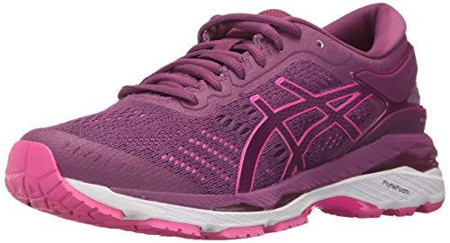 (ASICS Womens Gel-Kayano 24 Running Shoe, Prune/Pink Glow/White, 6.5 Medium US)
