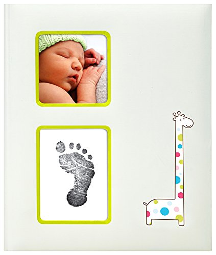 - Pearhead Giraffe Baby Memory Book with an Included Clean-Touch Ink Pad to Create Baby's Handprint or Footprint, Ivory