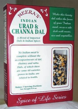 Urad & Channa Dal - a blend of imported split lentils and Indian spices, 6 boxes (Split Channa compare prices)
