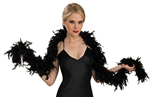 [133g Black Feather Boa Costume Accessory] (Women Turkey Costume)