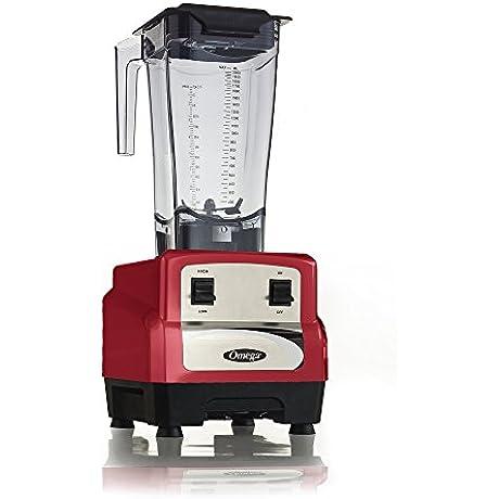 Omega Juicers OM6160R OM6160 3 Peak HP Blender Red