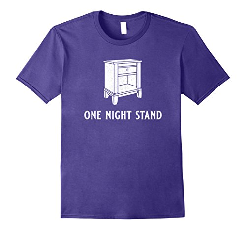 Mens One Night Stand | Funny Nightstand Pun T-Shirt XL (One Night Stand Costume)