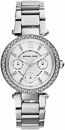Michael Kors Women's Mini Parker Silver-Tone Watch MK5615