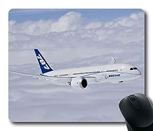 Personalized Unique Design Oblong Shaped Mouse Pad Boeing 747 8 Dreamliner