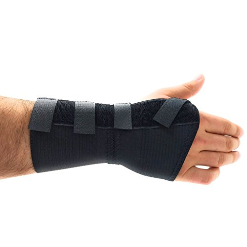 Premium Custom Wrist Brace Support - With Removable Metal Splint / Stays - Right - (Removable Braces)