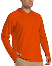 FASKUNOIE Men's Long Sleeve UPF 50+ Hoodies Sun Protection T-Shirts with Thumb Holes