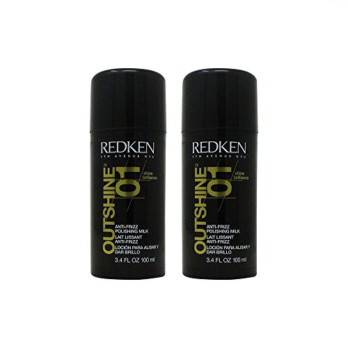 - Redken Outshine 01, anti-frizz polishing milk styling hair styling serum, 3.4 Ounce