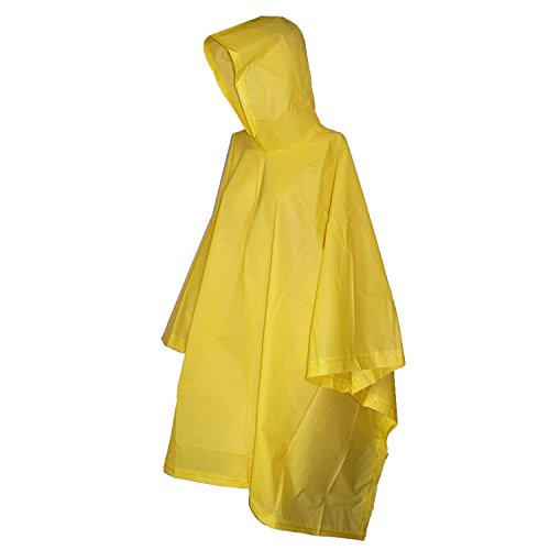Totes Yellow Children's Rain Poncho - Yellow Kids Poncho